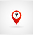 red location icon for cafe and bar eps file vector image