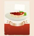 red meat restaurant banner vector image