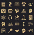 scholarship icons set simple style vector image vector image