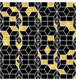 seamless geometric pattern with gold shine vector image vector image