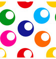 seamless pattern with bright colorful circle vector image