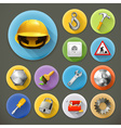 Service and repair long shadow icon set vector image vector image