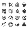 set healthcare icons such as fever vector image vector image