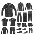 set men s clothing vector image vector image