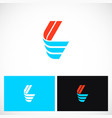 shape color letter l logo vector image vector image
