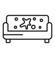 sofa dry cleaning icon outline style vector image vector image