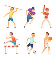 sport people playing games vector image vector image