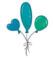 three balloons different colors and different vector image vector image
