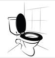 Toilet vector image