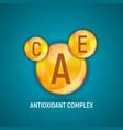 vitamin a c e icon antioxidant complex vector image