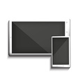 White tablet PC and mobile vector image