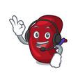 with headphone spleen mascot cartoon style vector image vector image