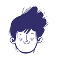 young man face male character cartoon isolated vector image vector image