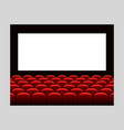cinema movie premiere poster design with white vector image