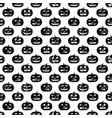 seamless halloween pattern with pumpkins vector image