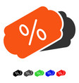 discount coupons flat icon vector image