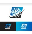 Swoosh World Logo Icon vector image