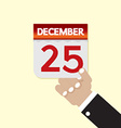 25th December Calendar vector image vector image