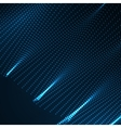 3D illuminated abstract digital wavy background vector image