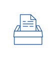 archive of documents line icon concept archive of vector image vector image