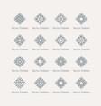 asian linear geometric rhombus symbols vector image vector image