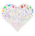 baht fireworks heart vector image vector image
