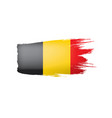 belgium flag on a white vector image vector image