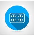 Blister with pills flat icon vector image