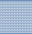 blue abstract wavy 3d-like background vector image vector image