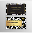 business card trendy leopard pattern wild animals vector image vector image