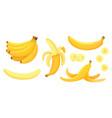 cartoon bananas peel banana yellow fruit