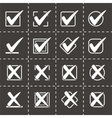 Check marks icon set vector image vector image