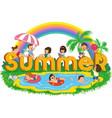 children summer vector image