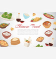 chinese food asian street and restaurant cuisine vector image