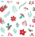 christmas holiday seamless pattern with green and vector image vector image