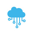 cloud icon design template isolated vector image
