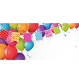 colorful birthday balloon with bunting flags vector image vector image