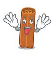 crazy cinnamon mascot cartoon style vector image vector image