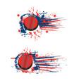 cricket sport ball halftone splash banner flag