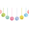 cute set of hanging pastel colorful vector image vector image