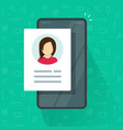 digital candidate personal contact information vector image vector image