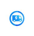 electric van logo icon vector image vector image