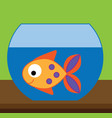 fish in aquarium for kids and vector image vector image