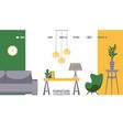 furniture store website design vector image