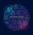 future round colored in thin vector image vector image