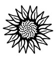 garden flower icon simple style vector image vector image