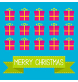 Gift boxes with ribbons and bows Merry Christmas c vector image vector image
