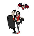 halloween backgrounds with vampire family couple vector image