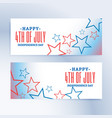 happy 4th of july independence day banners vector image vector image