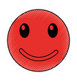 happy emoticon face kawaii style vector image vector image
